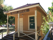 Old Post Office building. Small Post Office building in an elderly neighborhood Stock Images
