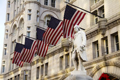 Old Post Office building. With Benjamin Franklin Statue, Washington DC, United States Royalty Free Stock Images
