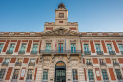 The Old Post Office Building, Puerta del Sol, Madrid, Spain Royalty Free Stock Image