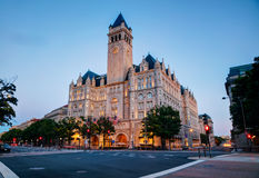 Old post office building in Washington, DC. At sunset stock photo