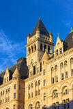 Old Post Office Building in Washington DC at sunset. Royalty Free Stock Images