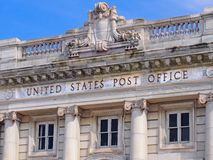 Old post office. Details of old classical style post office Royalty Free Stock Photos