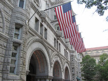 Old Post Office. Pavillion in Washington, DC royalty free stock photos