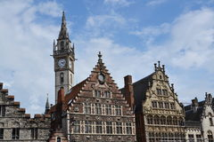Old Post office tower in Ghent, Belgium Royalty Free Stock Photography