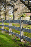 Old post and rail fence covered in moss Royalty Free Stock Photography