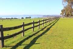 Old post and rail fence Stock Image