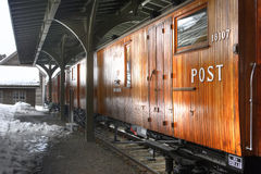 Old post train Royalty Free Stock Photo