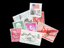Old Postage. Postage, Stamps, Mail, US, Legal, Ship, Deliver royalty free stock photography