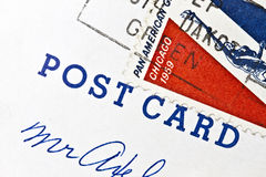 Old postage of  post card Stock Photography