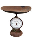 Old Postage Scales. Isolated with clipping path Stock Images