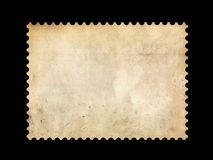 Old postage stamp border Stock Photo