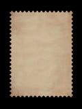 Old postage stamp border. On black Stock Images