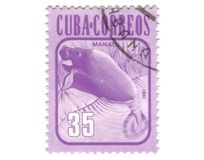 Old postage stamp from Cuba Stock Photography