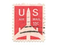 Old postage stamp from USA 11 cent Stock Photo