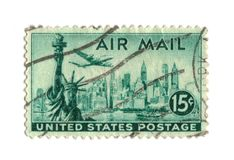 Old postage stamp from USA 15 cents Stock Photo