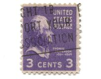 Old postage stamp from USA 3 cent Royalty Free Stock Photo