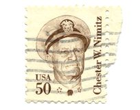 Old postage stamp from USA Royalty Free Stock Photography