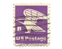 Old postage stamp from USA B Stock Image