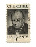 Old postage stamp from USA five cent Royalty Free Stock Image
