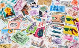 Old postage stamps Stock Photography