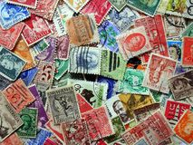 Old postage Stamps Royalty Free Stock Images