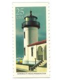 Old postage stamps from USA with Lighthouse Royalty Free Stock Image