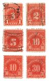 Old postage stamps from USA one Dollar Stock Image