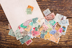 Old postage stamps Royalty Free Stock Image
