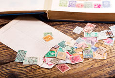 Old postage stamps Stock Image