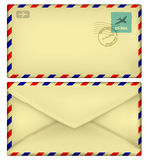 Old postal envelope Stock Photography