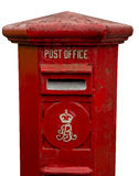 Old Postbox with cliping path Royalty Free Stock Photography