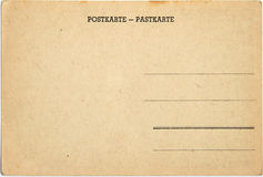 Old postcard. Old retro ancient cardboard postcard Royalty Free Stock Photos