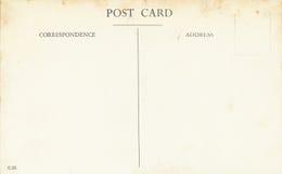 Old postcard. Back side of an old postcard Stock Image