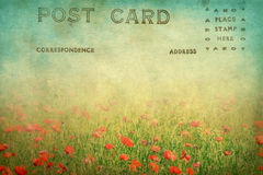 Old postcard. Grungy old vintage postcard of a landscape royalty free stock photography
