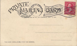 Old postcard royalty free stock photos
