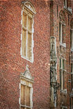 Old postcard with architectural facade detail at one old buildin Royalty Free Stock Photo