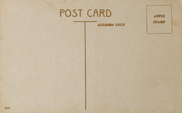 Old Postcard, backside of vintage style post card Royalty Free Stock Image