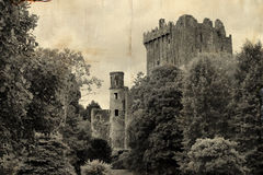 Old postcard from Blarney castle, Ireland Royalty Free Stock Photography