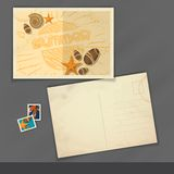 Old Postcard Design, Template Royalty Free Stock Photos