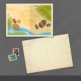 Old Postcard Design, Template Stock Photography