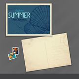 Old Postcard Design, Template Royalty Free Stock Image
