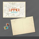Old Postcard Design, Template Stock Photos