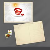 Old Postcard Design, Template Royalty Free Stock Photo