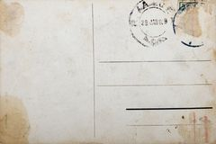 Old postcard, grunge paper with aging marks Royalty Free Stock Photography