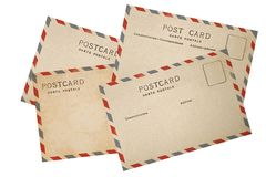 Old airmail Postcard Stock Photography
