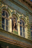 Old postcard of one historical building.Timisoara, Romania 25 Royalty Free Stock Photography