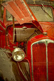 Old postcard with one old car 1 Stock Photo