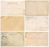 Old postcards. Isolated on white background Royalty Free Stock Photography