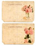 Old postcards back side Stock Photo