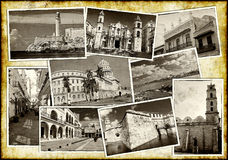 Old postcards of Havana Royalty Free Stock Photography